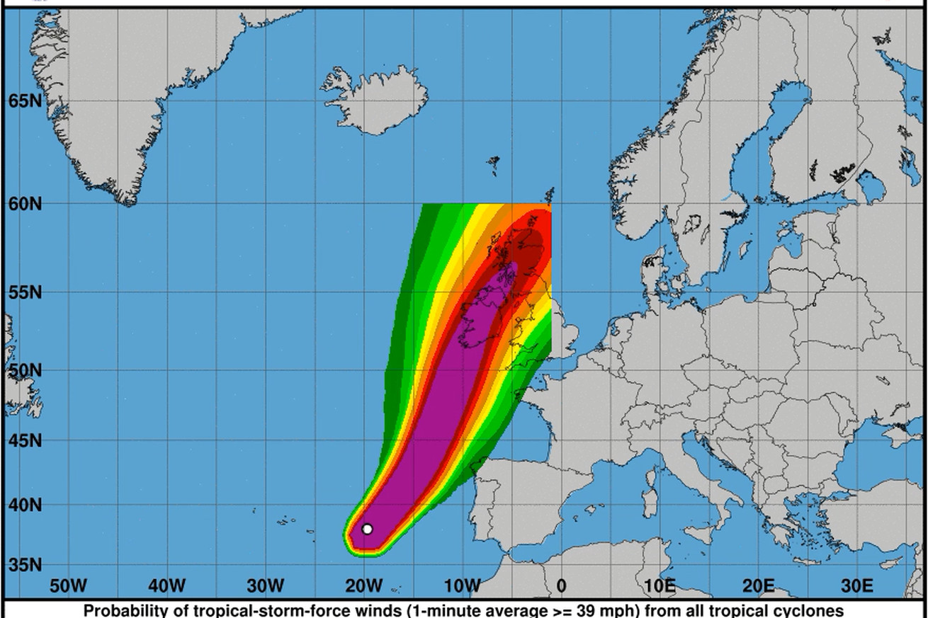 storm ophelia was so unusual it was literally off the charts