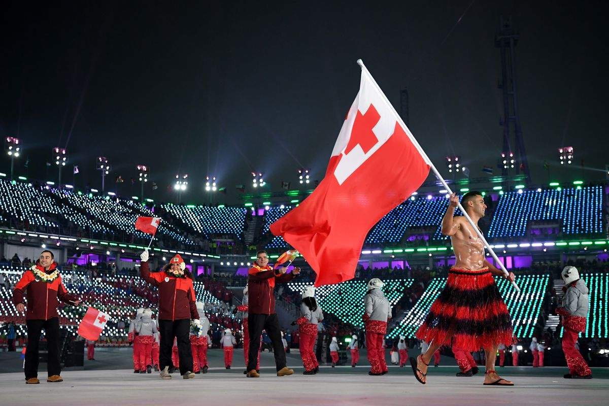 The Shirtless, Oiled-Up Tongan Flag-Bearer Is Back