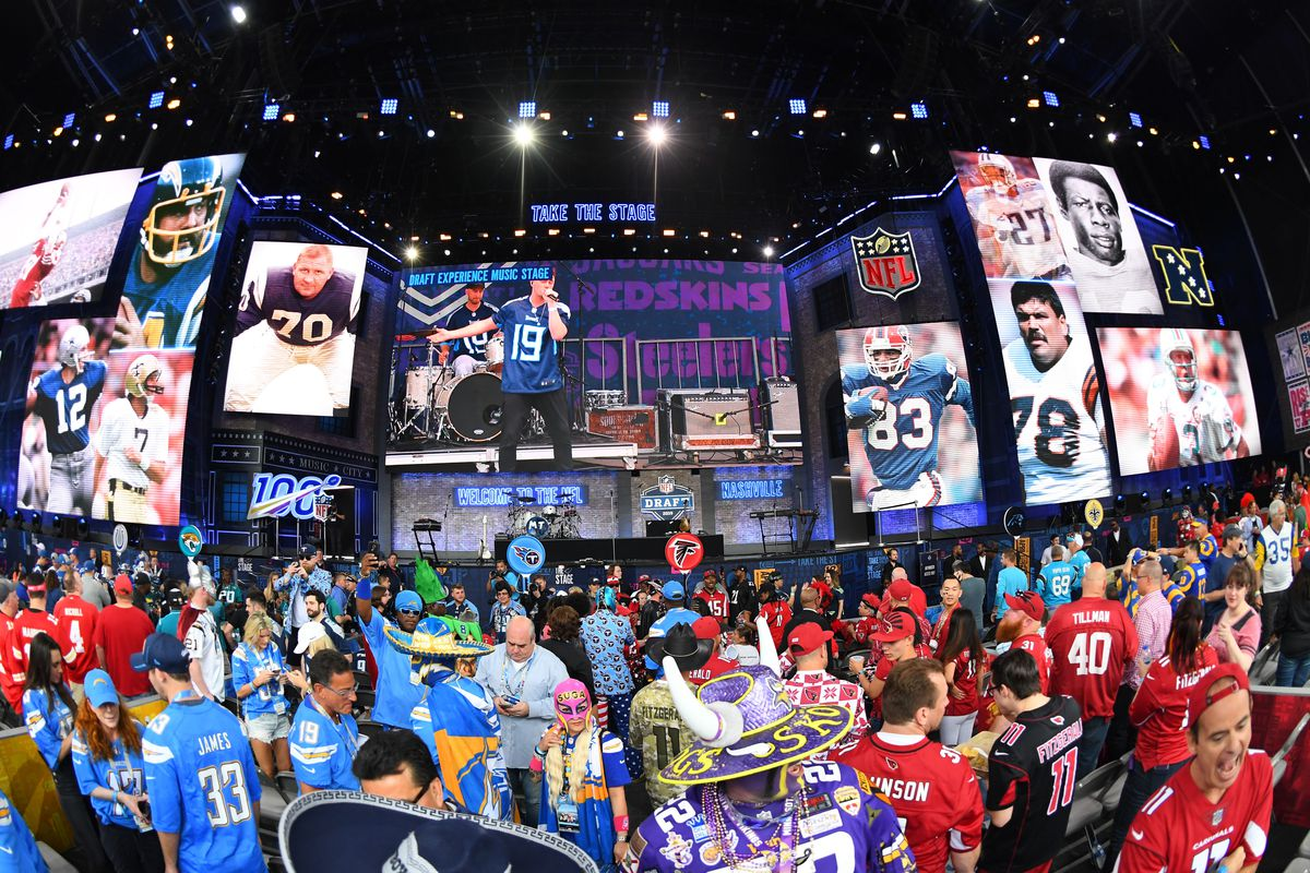 The 2019 NFL Draft stage is set, Apr. 25, 2019.