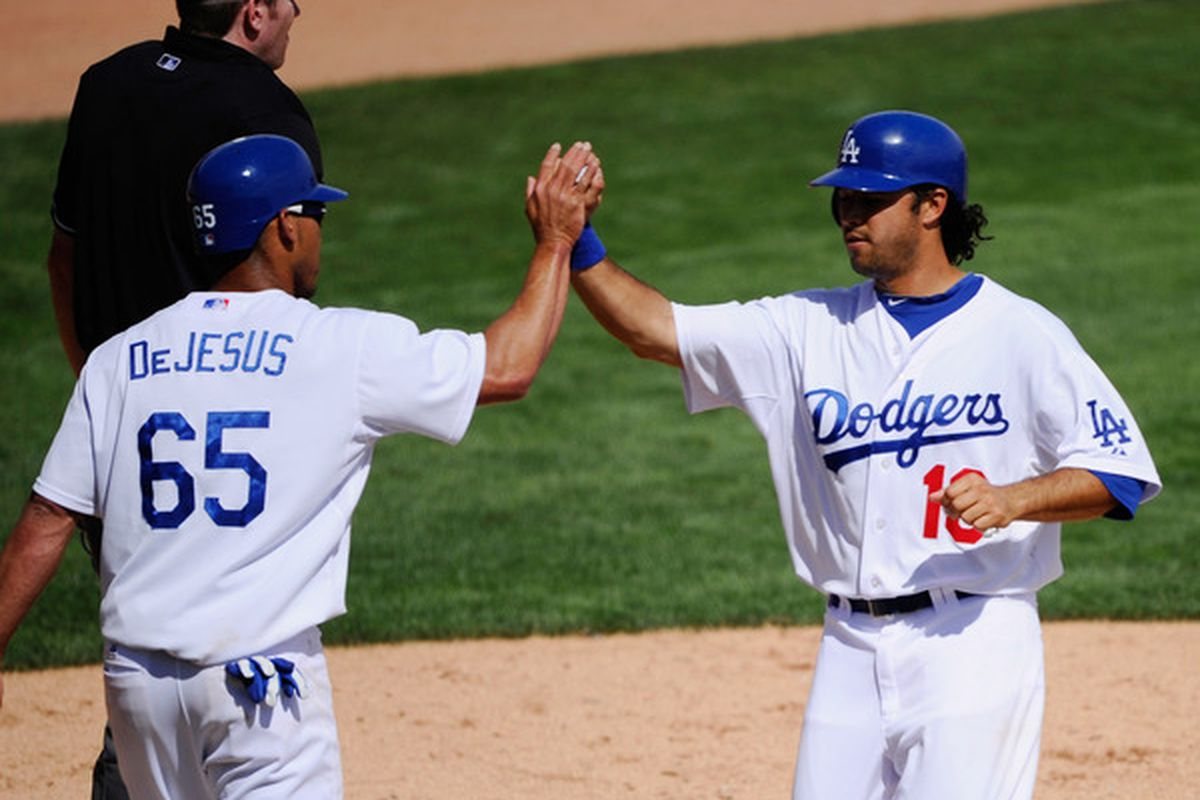 Ivan DeJesus and Andre Ethier are both on the Dodgers' opening day 25-man roster.