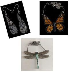 "Ink jet shrink film jewelry from <a href=""http://birdqueendesigns.com/home.html"">BirdQueen Designs</a>."
