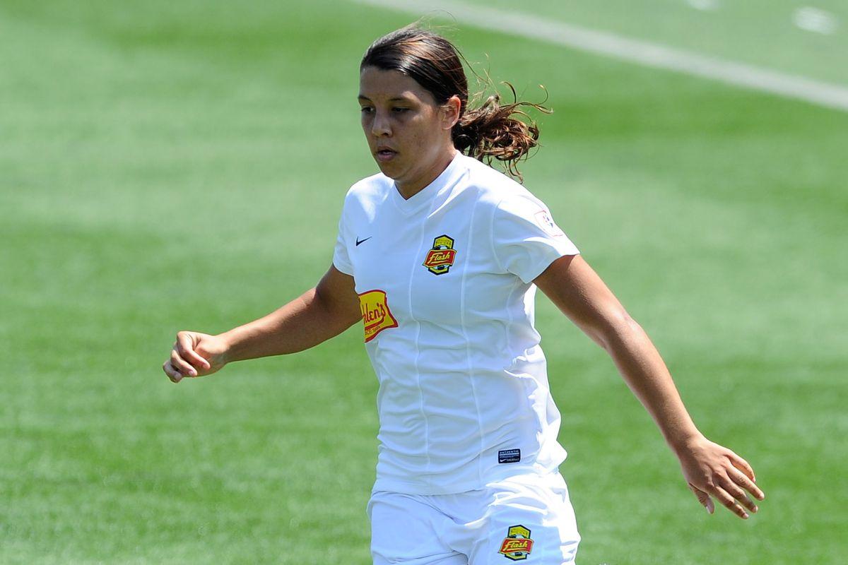 Flash forward Samantha Kerr pestered Boston's back line on Saturday, helping Western New York earn a 2-2 draw.