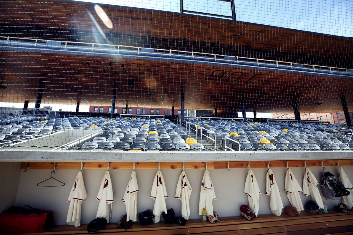 Feature on St. Paul baseball history leading up to the opening of a new CHS Field, Hamline played Macalester Wednesday April 15 2015 in St. Paul Minnesota. ] Jerry Holt/ Jerry.Holt@Startribune.com