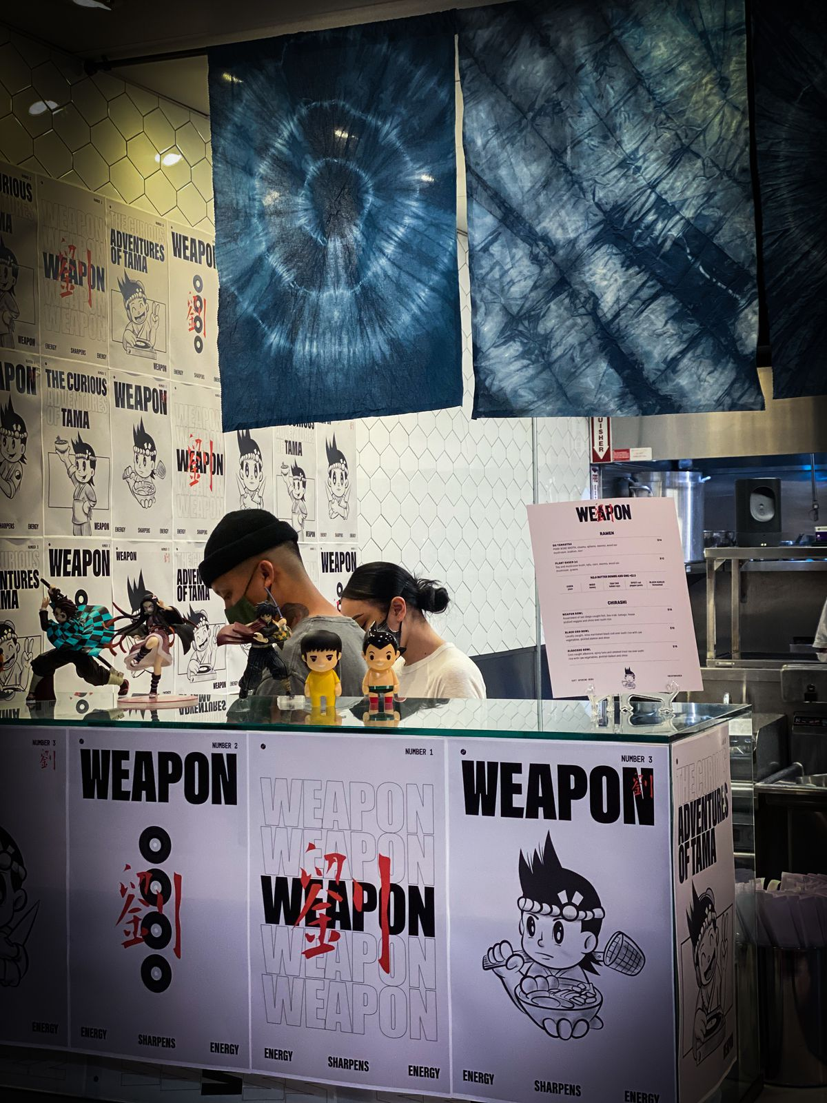 Weapon stand at Liberty Public Market