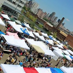 """<b>↑</b>You know a neighborhood is officially """"happening"""" when it gets its own flea market. The <b><a href="""" http://licflea.com/"""">LIC Flea</a></b> (525 46th Avenue) is a bit smaller than its Brooklyn counterparts, but it's also less crowded and crazed. It"""