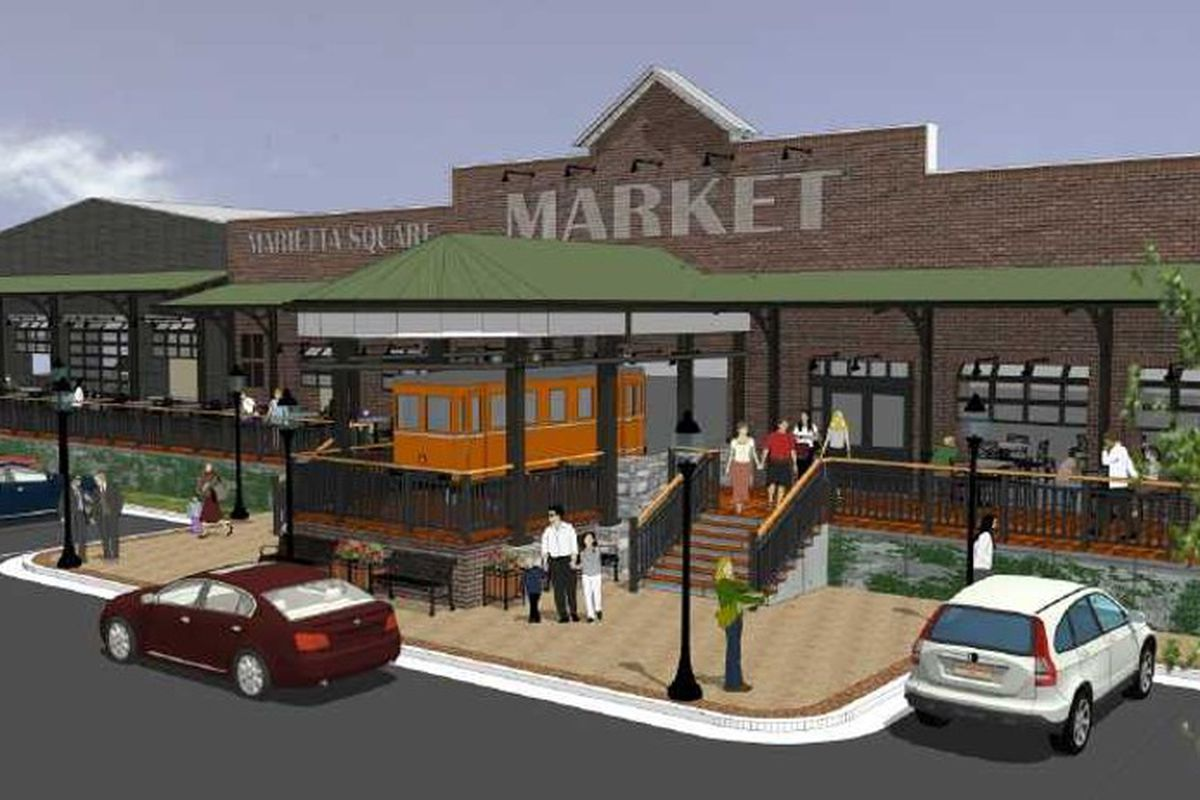 A planned Krog and Ponce City Market style food hall in Marietta.