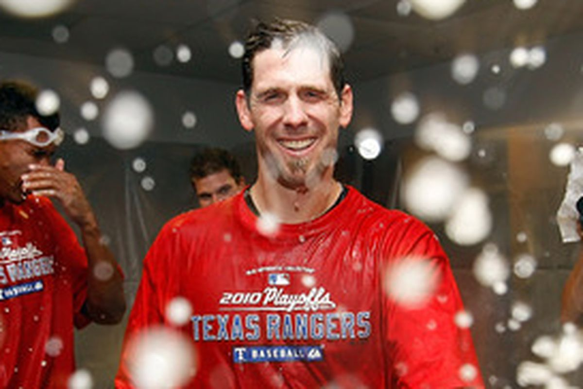 the only picture of Cliff Lee with Champagne I could find was with the Rangers.