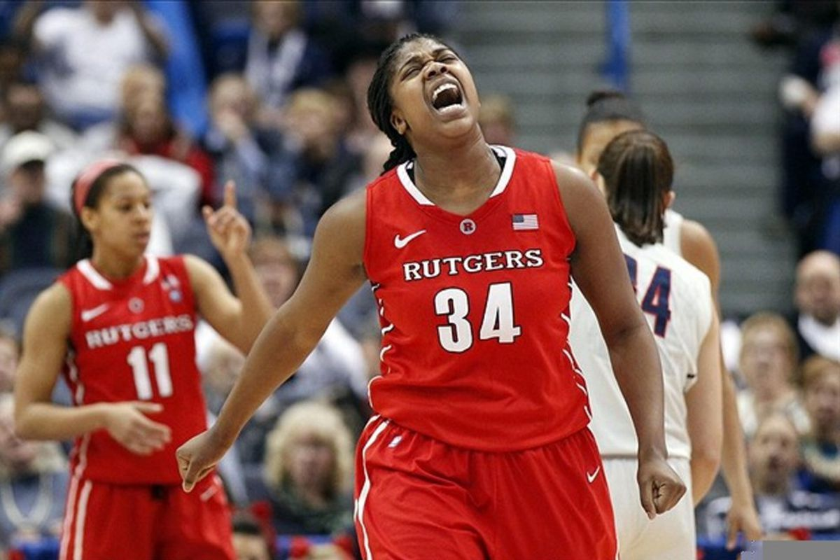 Offensive rebounding and scoring efficiency are two of the strongest indicators of a successful transition from NCAA Division I basketball to the WNBA and Rutgers post Monique Oliver has a bit of both.