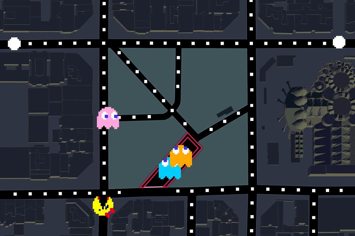 Google themes pacman - A Game Of Ms Pac Man At The Pla A De La Sagrada Fam Lia In Barcelona Google Via Polygon