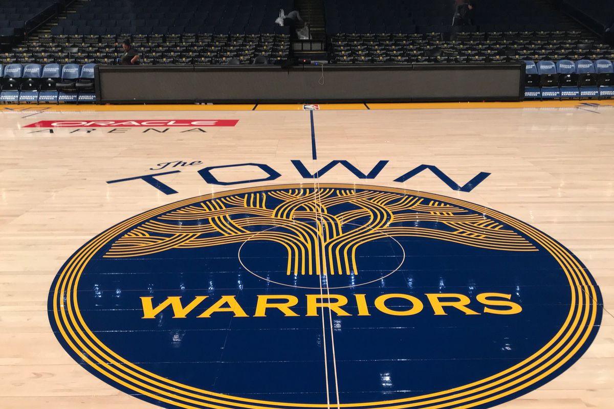 5c42c4ffd55 Warriors news  Golden State honors Oakland with court design at ...