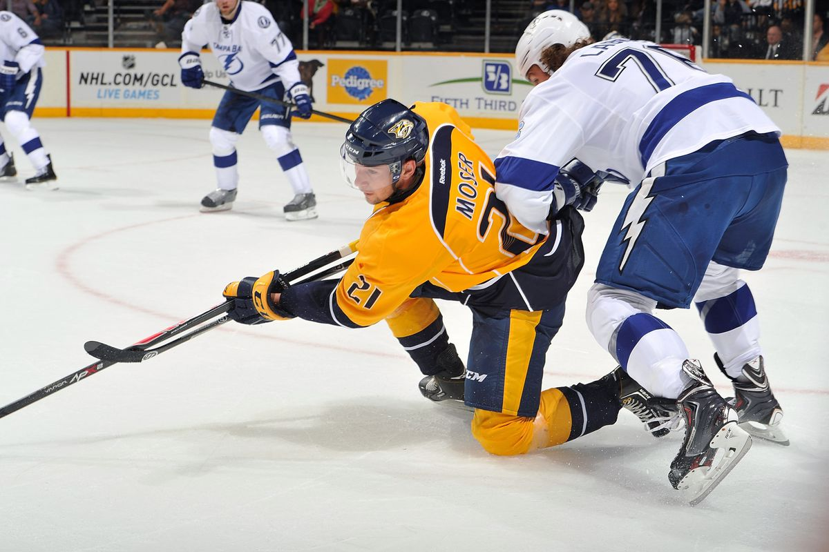 The injury to Viktor Stalberg may open up an opportunity for Simon Moser to make the Predators' Opening Night roster.