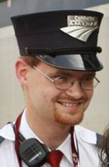 Brandon Bostian on Aug. 21, 2007, when he was an Amtrak assistant conductor. | Huy Richard Mach/St. Louis Post-Dispatch via AP