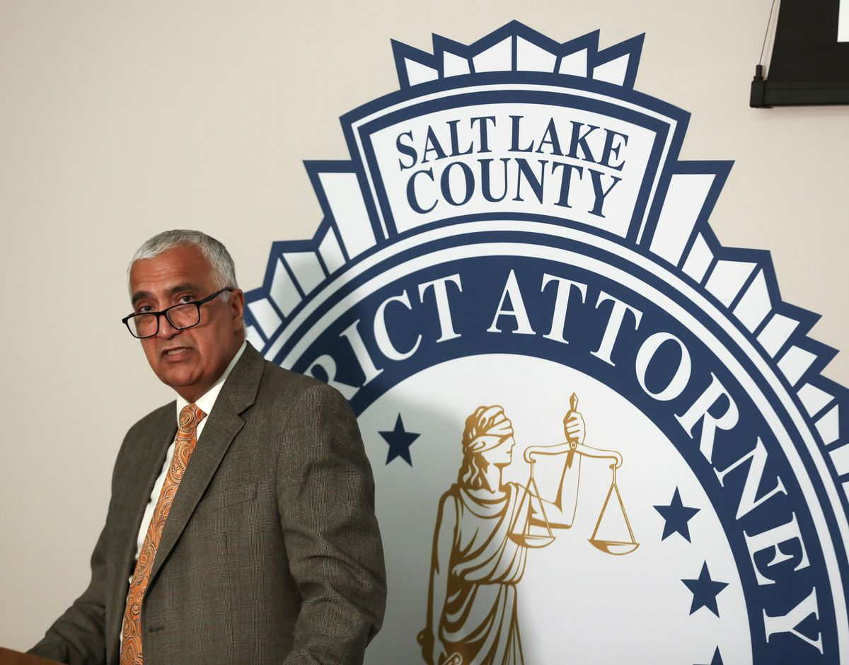 Salt Lake County District Attorney Sim Gill talks about an officer-involved fatal shooting by members of the Metro Gang Unit on Oct 18, 2018, during press conference at the Salt Lake County District Attorney Office on Wednesday, Aug. 21, 2019.