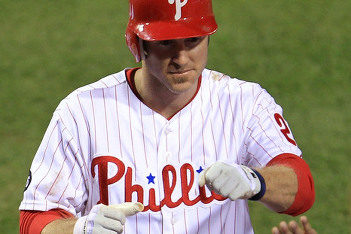 Utley, presumably trying to punch the flu right in its stupid face