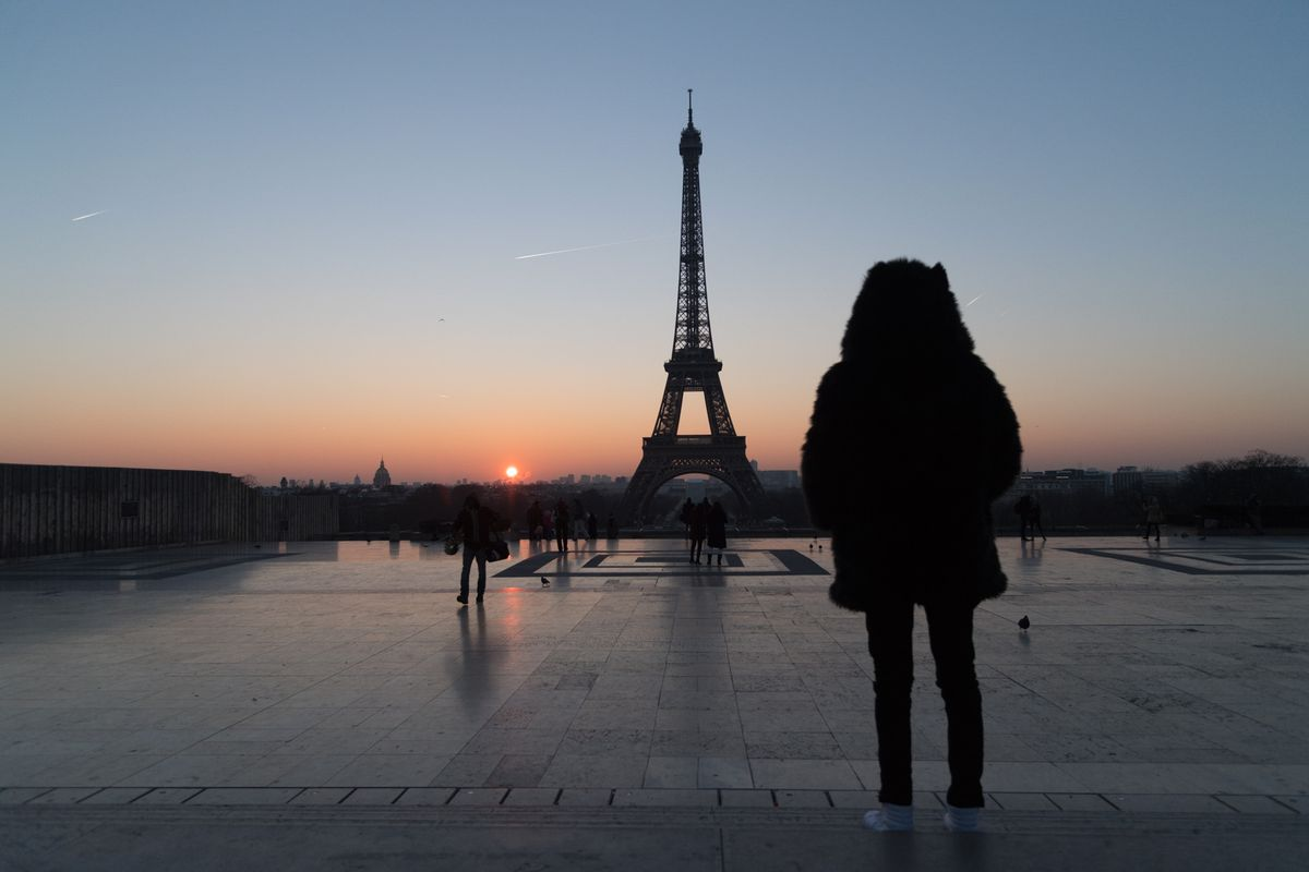 Winter Cold Hits The French Capital