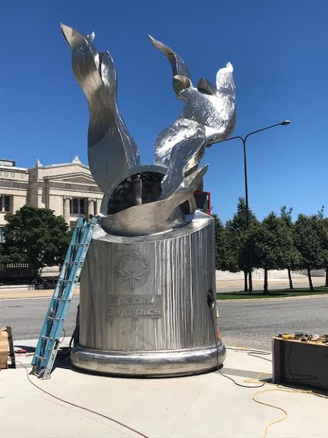 The sculpture designed by Richard Hunt will be lit at noon Friday at Soldier Field in honor of the 50th anniversary of the Special Olympics. | Photo provided by<br>Justice Anne Burke