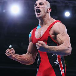 Egypt wrestler: Photo by Cameron Spencer/Getty Images