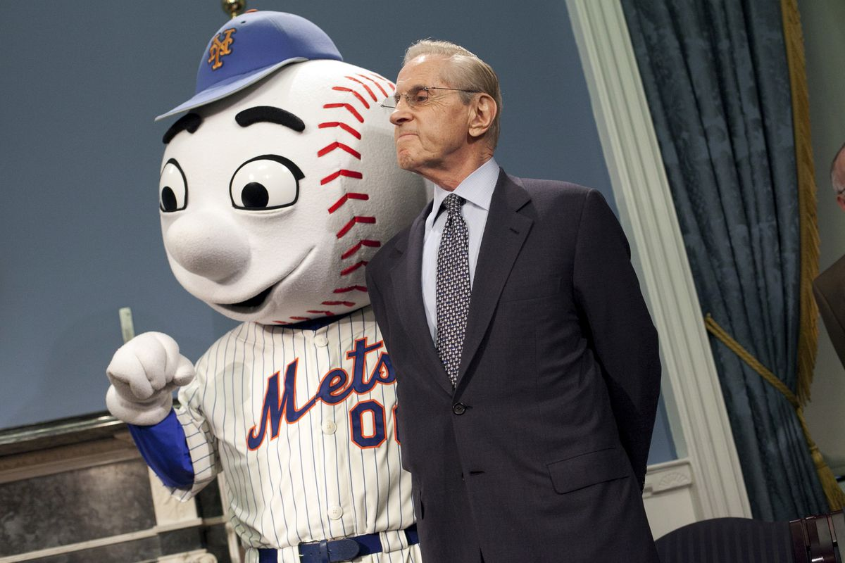 Mayor Bloomberg Makes Announcement With MLB Commissioner Bud Selig And Mets Owner CEO Fred Wilpon