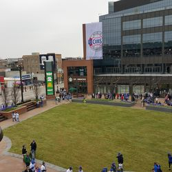 View of the plaza from the new western gate