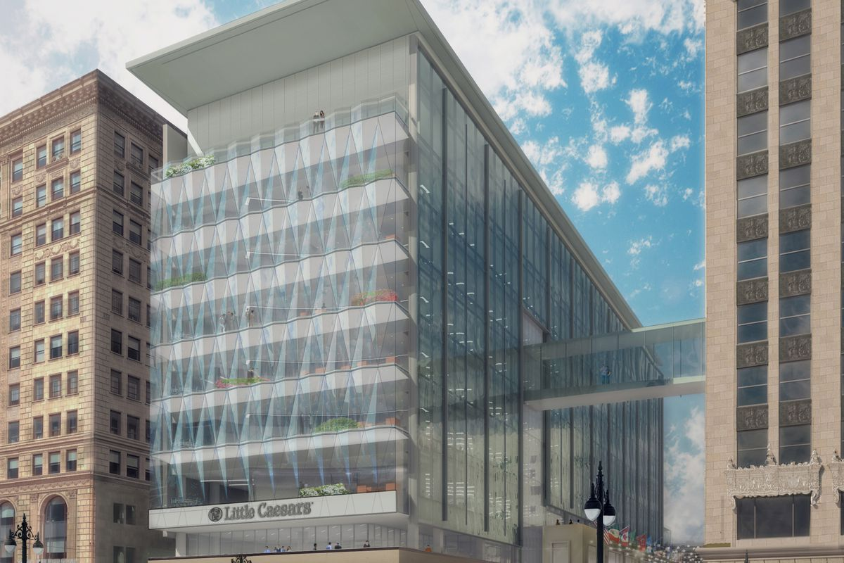 A rendering of the new Little Caesars Global Resource Center