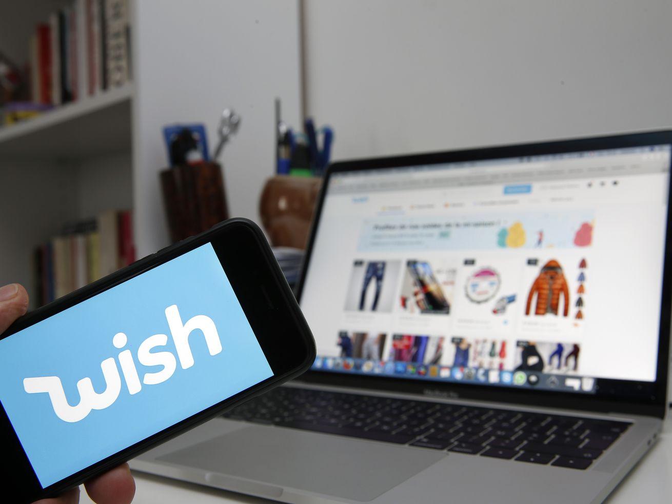 The Wish app had 161 million downloads last year.