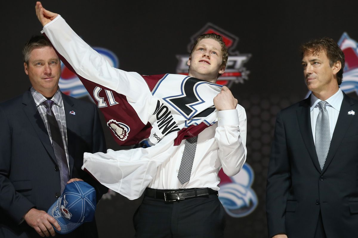 Nathan Mackinnon is a Calder Trophy finalist this year after being drafted #1 overall last year.