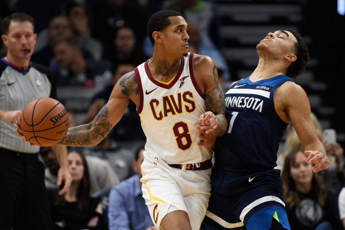 84a6ae9e3d0 Cleveland Cavaliers at Minnesota Timberwolves player grades: Good Jordan  Clarkson exists