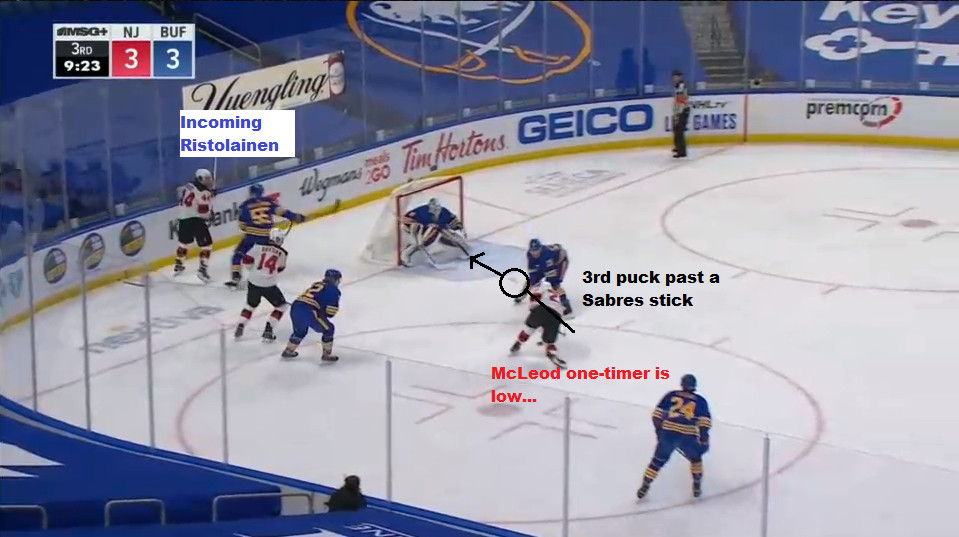 Part 9: McLeod one-times the pass from Wood
