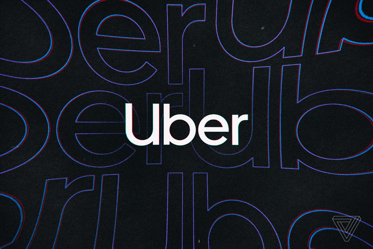 The Uber logo against a dark background.