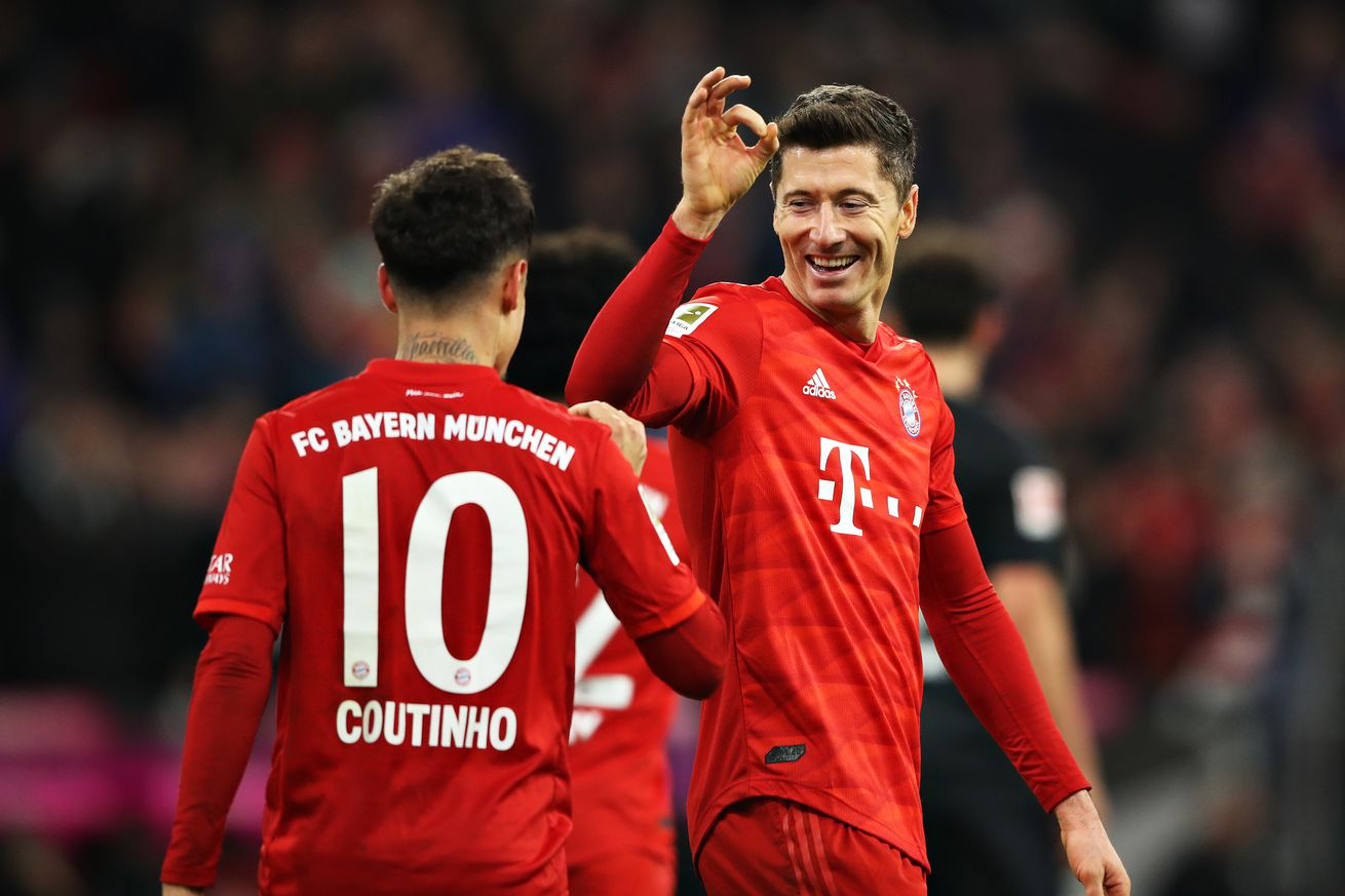 Robert Lewandowski backs Coutinho for continued success after hat-trick performance vs. Werder Bremen
