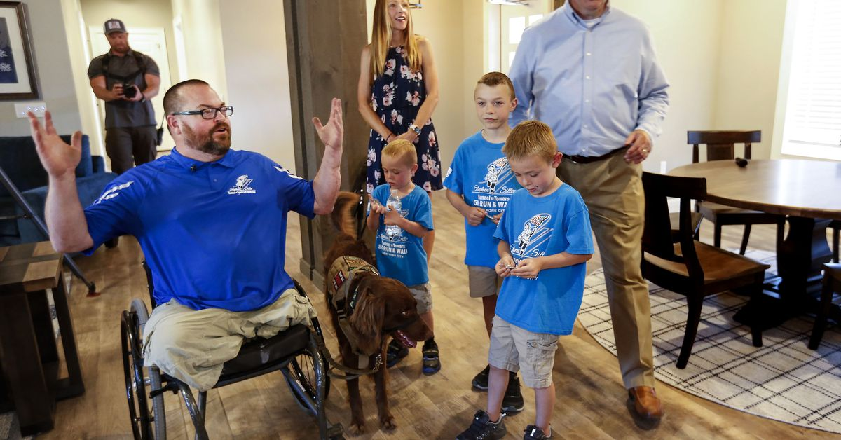 Purple Heart vet and family receive new home...