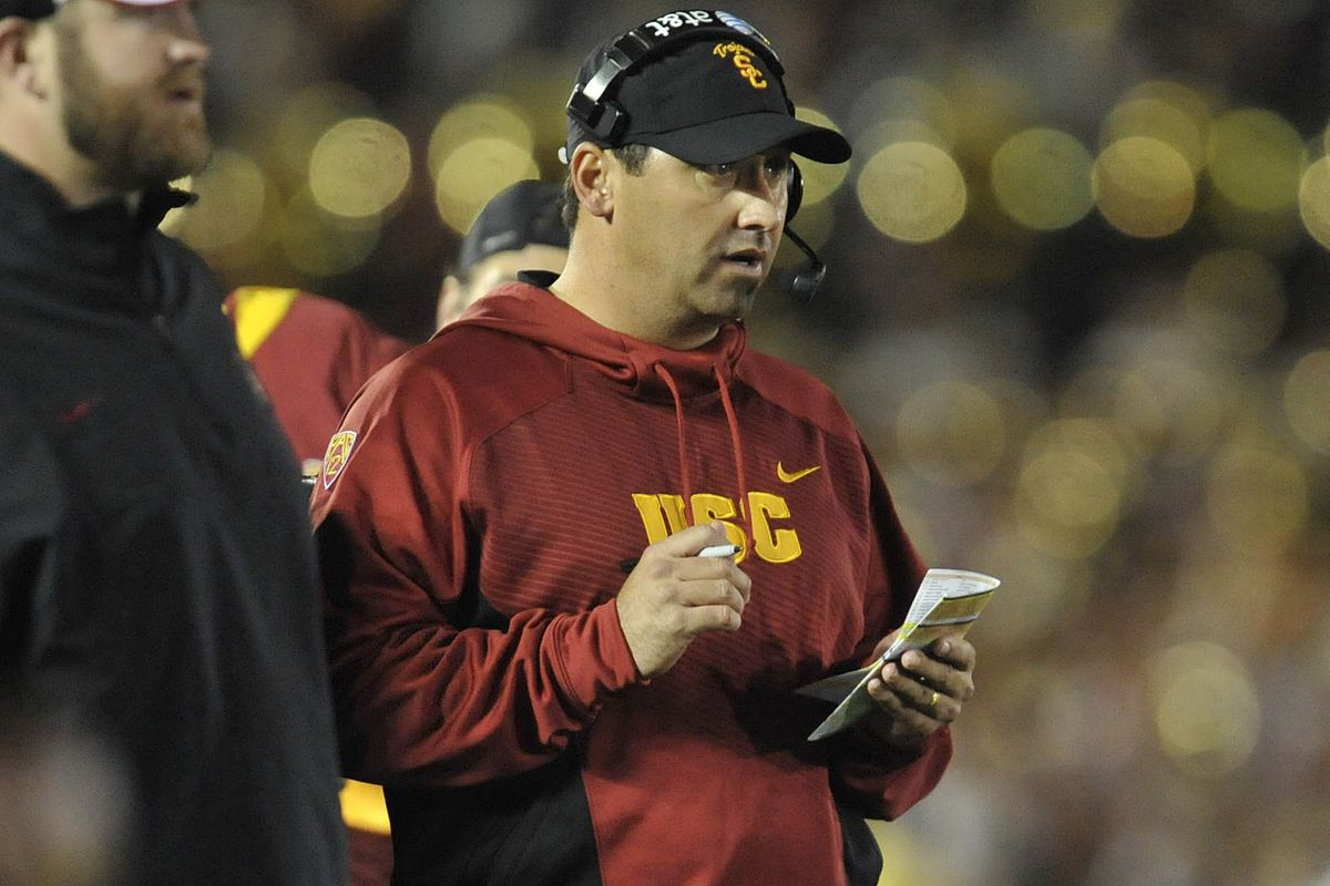 At least Sark seems to be eating well as the head coach of Trojans