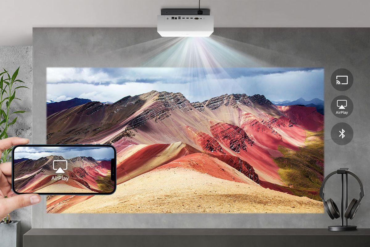 LG's brand new 4k laser projector
