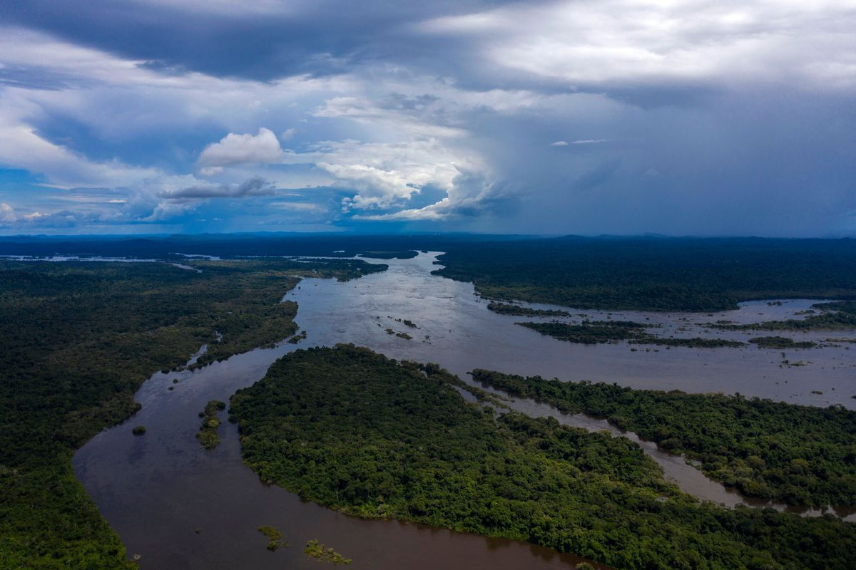 The Iriri River at the Arara indigenous land, in the Amazonian Rainforest, Para State, Brazil on March 15, 2019.