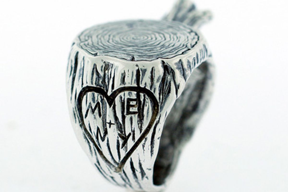 Digby & Iona will carve your initials into their stump ring for Valentine's Day (or any day, really)