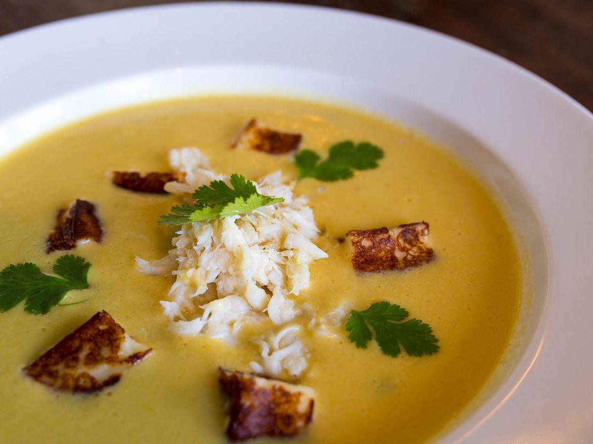 The corn soup at El Alma