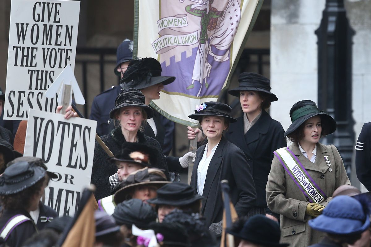 On the set of the movie Suffragette in London.