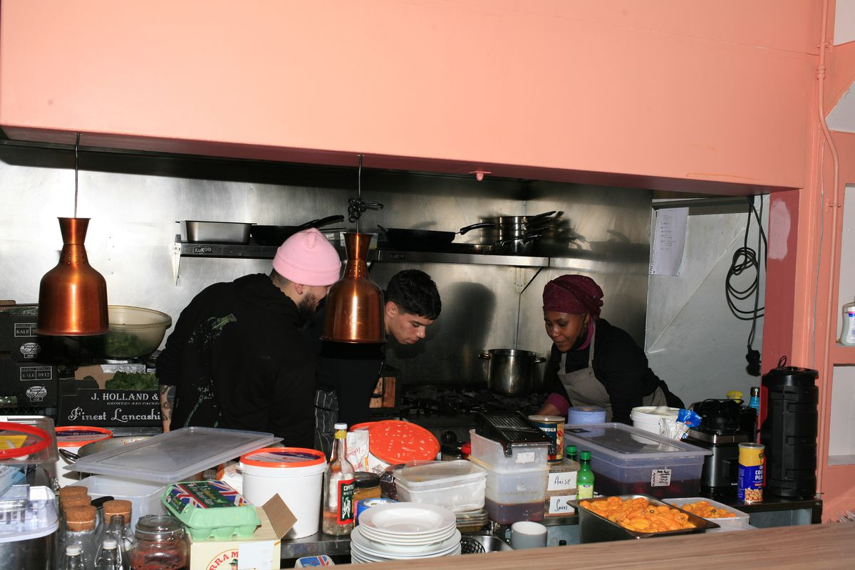 Adejoké Bakare, chef-owner Chishuru in Brixton, right. The restaurant is struggling through the coronavirus lockdown in London, as restaurants are closed until further notice