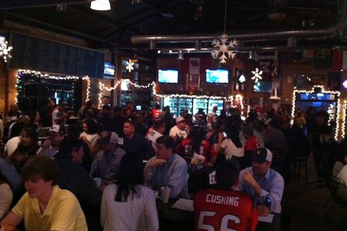 Inside Lucky's Pub in EaDo.