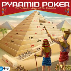 Pyramid Poker is a quick head-to-head game in which each player takes turns placing blocks to assemble a pyramid. Once it's completed, players begin dismantling the pyramid, taking a block each turn as they attempt to create their best three poker hands.