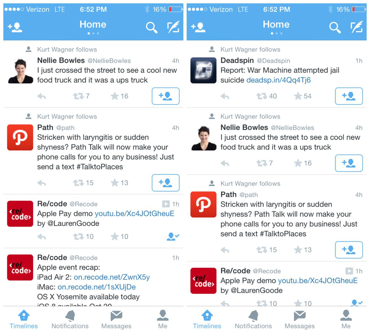 If a new user refreshes his feed with no new tweets available, Twitter will now recommend tweets for him.