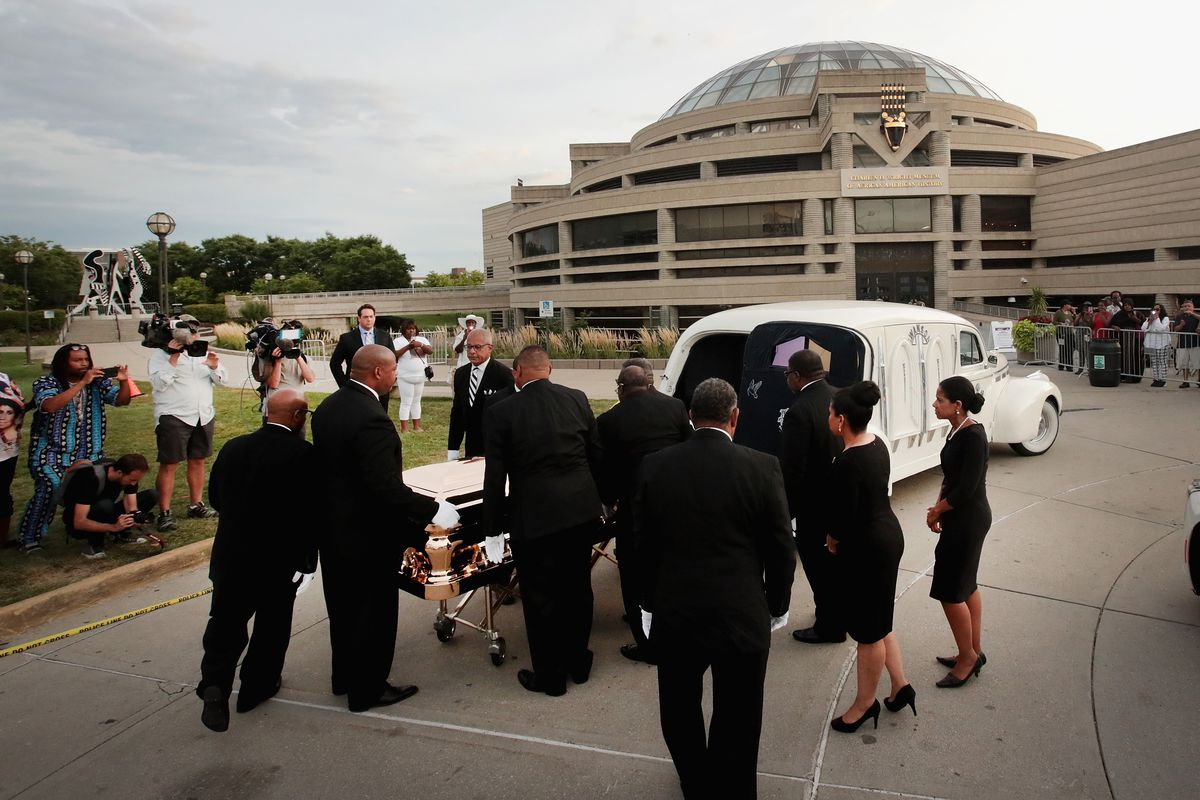 Fans Of Soul Legend Aretha Franklin Pay Their Respects As Her Body Lies In Repose In Detroit