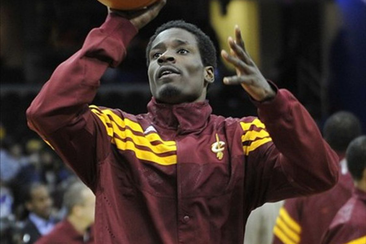 Feb 121, 2012; Cleveland, OH, USA; Cleveland Cavaliers guard Manny Harris (6) warms up before a game against the Detroit Pistons at Quicken Loans Arena. Mandatory Credit: David Richard-US PRESSWIRE