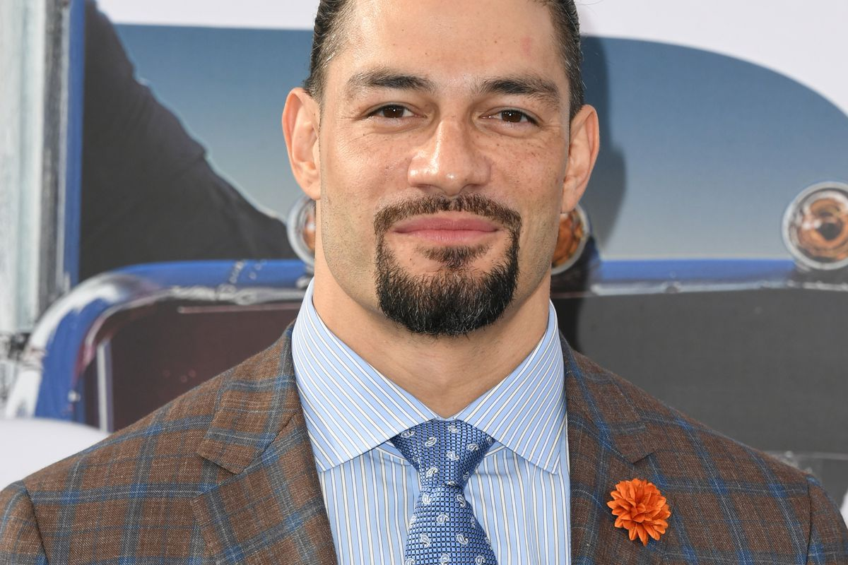 """Roman Reigns attends the Premiere Of Universal Pictures' """"Fast & Furious Presents: Hobbs & Shaw"""" at Dolby Theatre on July 13, 2019 in Hollywood, California."""
