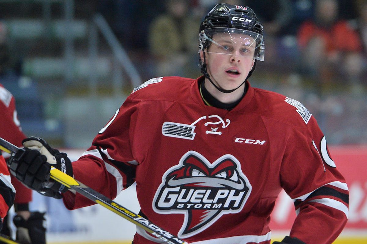 MacKenzie Entwistle taking more spins at center for Guelph Storm ... 7a470ae067b7