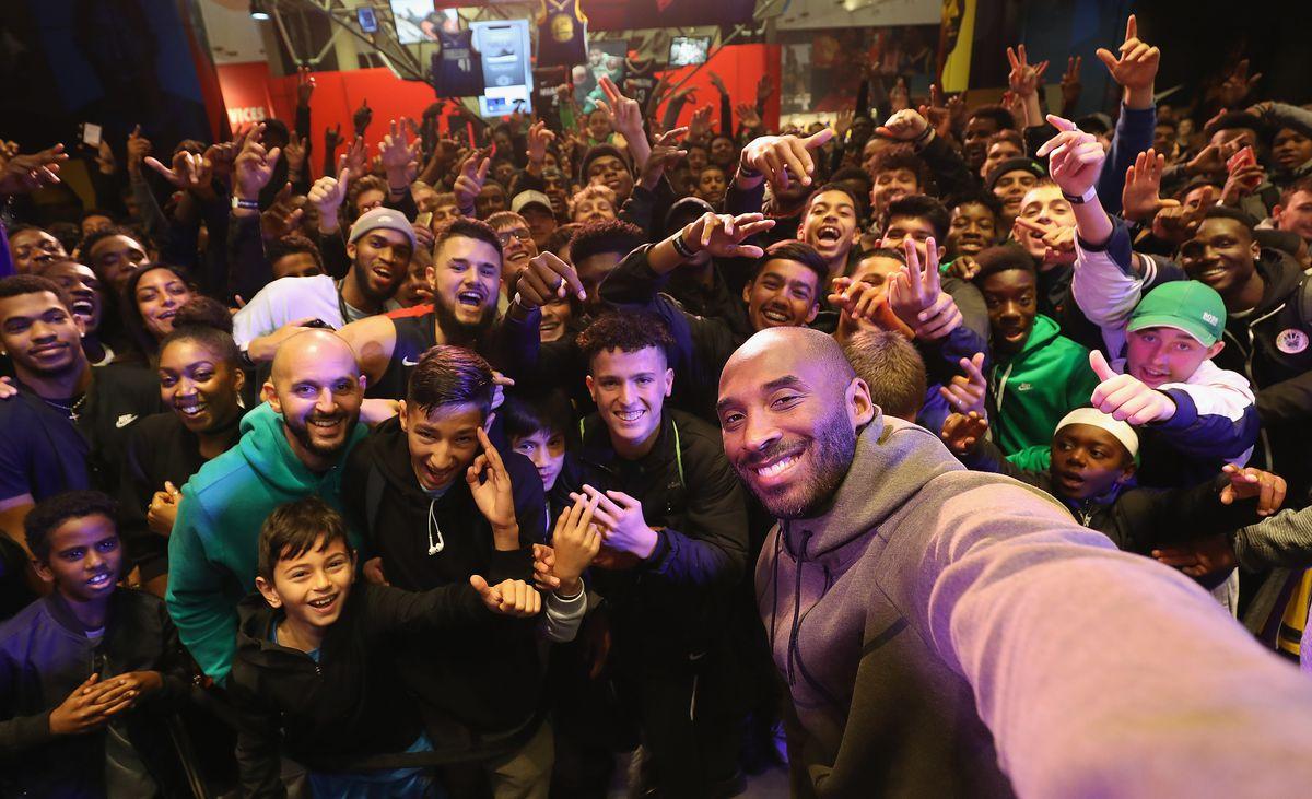 Kobe Bryant Visits Nike Town London