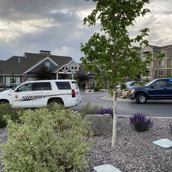 Police respond to Concord at Geneva apartments at 125 N. Mill Road in Vineyard after one person was killed in a shooting Tuesday, May 12, 2020.