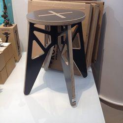 Isaac Krady Rocket space saver wooden stool $48