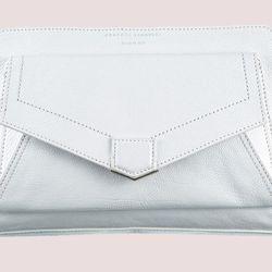 """<b>Proenza Shouler</b> PS13 Clutch in White, <a href=""""http://www.proenzaschouler.com/shop/ps13-clutch-2741.html"""">$1,175</a>"""
