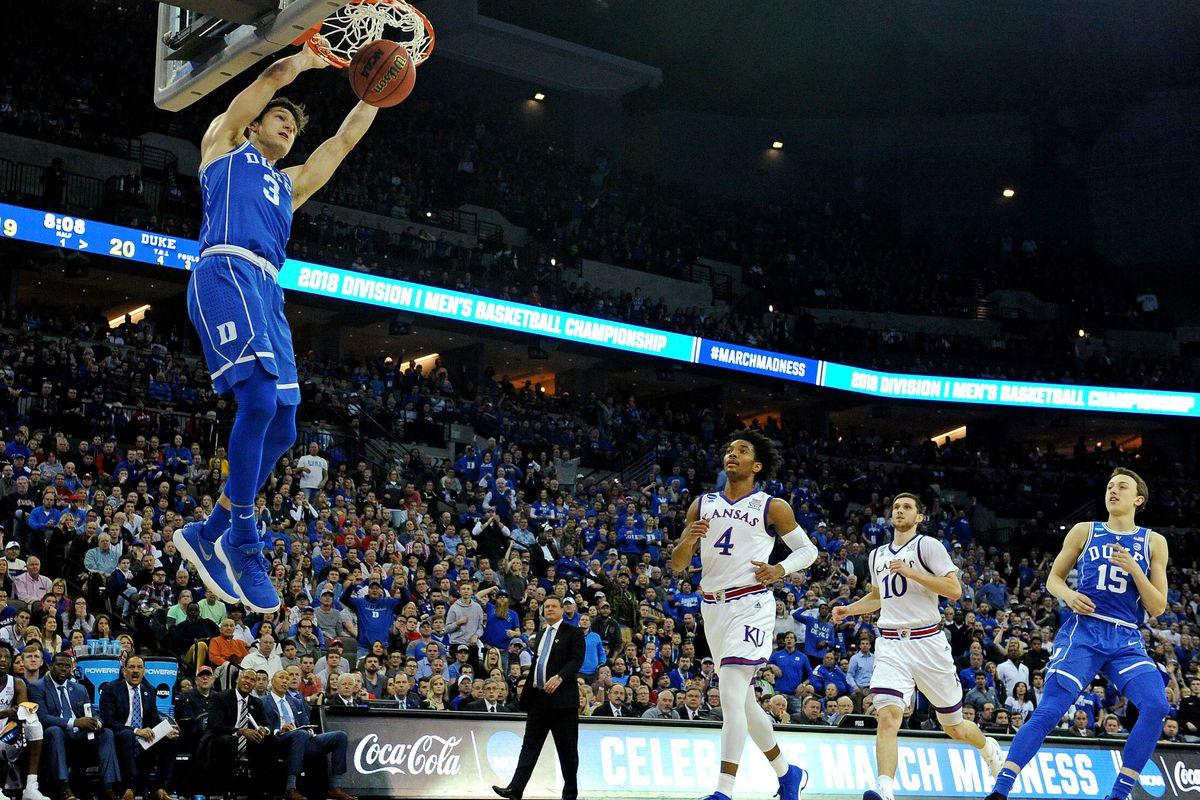 NCAA Basketball: NCAA Tournament-Midwest Regional-Kansas vs Duke